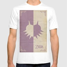 Majoras Mask White MEDIUM Mens Fitted Tee