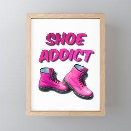 Shoe Addict Framed Mini Art Print