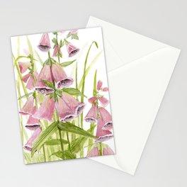 Pink Foxglove Botanical Garden Flower Stationery Cards