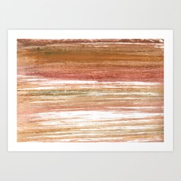 Coconut abstract watercolor Art Print