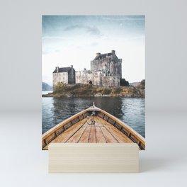 The Boat and the Castle-Scotland Mini Art Print