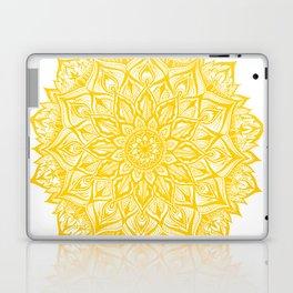 Snowflake-Yellow Laptop & iPad Skin