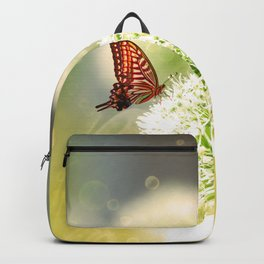 Allium fantasy flowers with butterfly Backpack