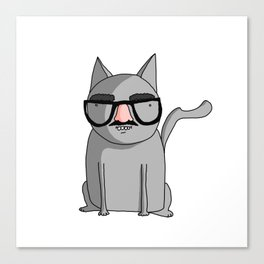 Cat with Groucho Glasses Canvas Print