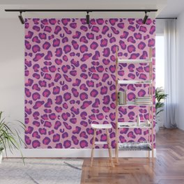 Leopard-Pink+Purple Wall Mural
