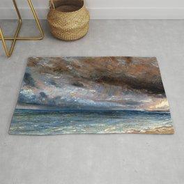 """John Constable """"Stormy Sea, Brighton"""" Rug"""