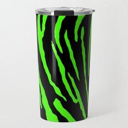 Green Tiger Stripes Travel Mug