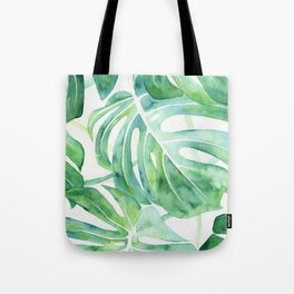 Monstera Leaf Pattern Tote Bag