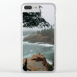 Foggy Morning in Acadia National Park Clear iPhone Case