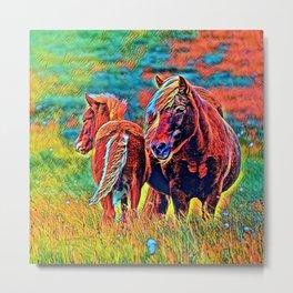 AnimalColor Horse 018 Metal Print