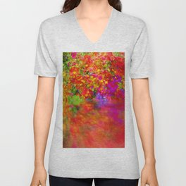 Potpourri flowers reflection Unisex V-Neck