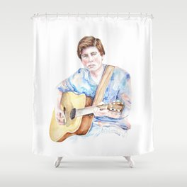 Sam Woolf - Watercolor Shower Curtain