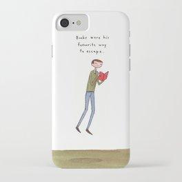 books were his favourite way to escape iPhone Case