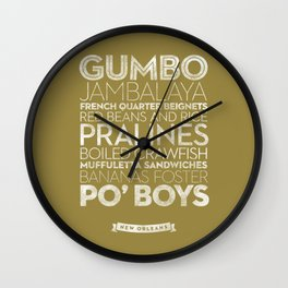 New Orleans — Delicious City Prints Wall Clock