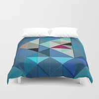 sailboat Duvet Covers featuring Sailboat Abstract by Alyn Spiller