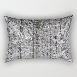 Wintery forest  background Rectangular Pillow