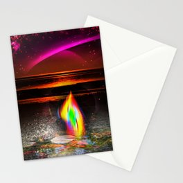 Our world is a magic - Sunset Stationery Cards