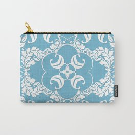 Blue Leaf Lace Carry-All Pouch