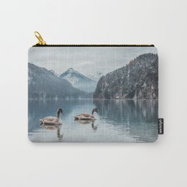 Couple of swans, Alpsee lake Carry-All Pouch