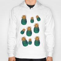 pineapples Hoodies featuring PINEAPPLES by Heaven7