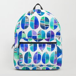 Oceanic Coffee Beans Pattern Backpack