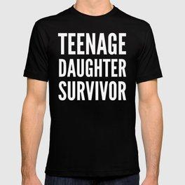 Teenage Daughter Survivor (Black & White) T-shirt