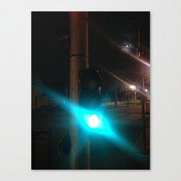 street urban green light Paris Canvas Print