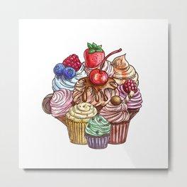 Maffins/Cupcakes Metal Print