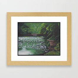 Kyoto Lake Framed Art Print