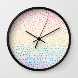 Rainbow Dot Pattern Wall Clock