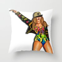 versace Throw Pillows featuring JLo Versace by Anthony Michael