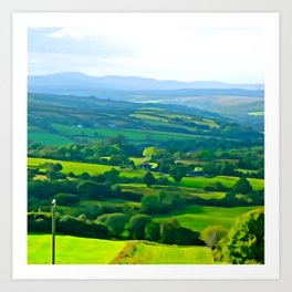 Fifty Shades of Green Art Print