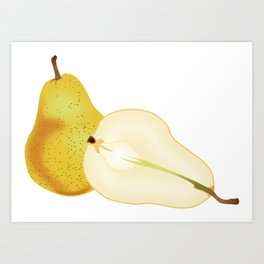Pear Kitchen picture Art Print