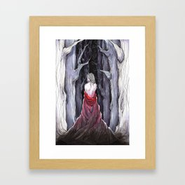 Meet Me in the Woods Framed Art Print