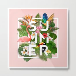 Summer Parrots Metal Print