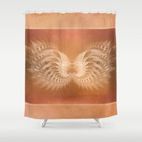 angel wings Shower Curtains featuring Angel Wings by Selina Morgan