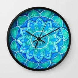 Pale Blue Mandala Wall Clock