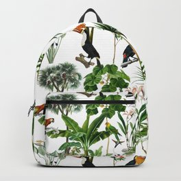 A Colorful Jungle Theme Pattern Backpack