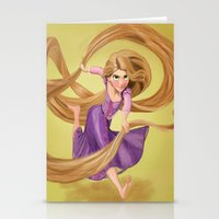 rapunzel Stationery Cards featuring Rapunzel by Valentina M.