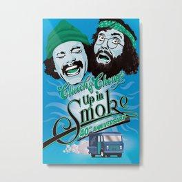 1978 Up in Smoke (Cheech & Chong) - Movie Film Poster Print Metal Print