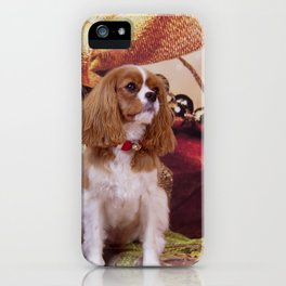 Ribbons, Bells And Cavalier King Charles Spaniel iPhone Case
