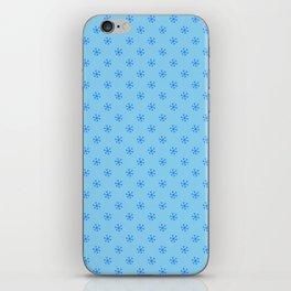 Brandeis Blue on Baby Blue Snowflakes iPhone Skin
