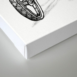 Cartoon Retro Mod Stingray 8-Track Muscle Bike Bicycle Stingray Canvas Print