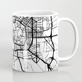 MILAN ITALY BLACK CITY STREET MAP ART Coffee Mug