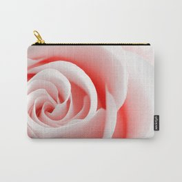 Red Rose Macro - High Key Carry-All Pouch