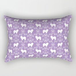 Chow Chow silhouette floral dog breed gifts chow chows pure breed Rectangular Pillow