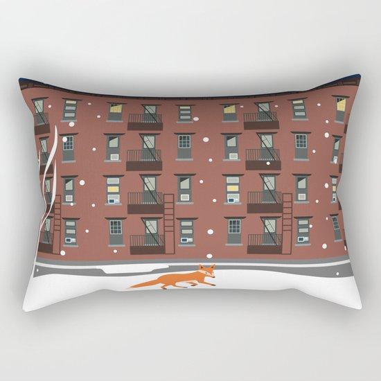 Winter in New York Rectangular Pillow