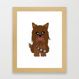 Chewbacca the Yorkie Framed Art Print