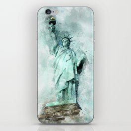 Statue of Liberty painting iPhone Skin