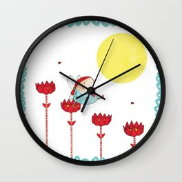 Flower Fairy Wall Clock